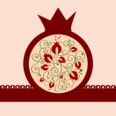 decorative vector pomegranate