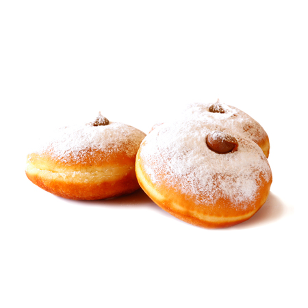 image of donuts. isolated on white. jewish holiday Hanukkah symbol