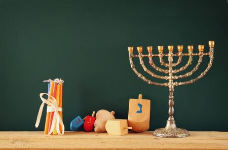 hanoukia: image of jewish holiday Hanukkah