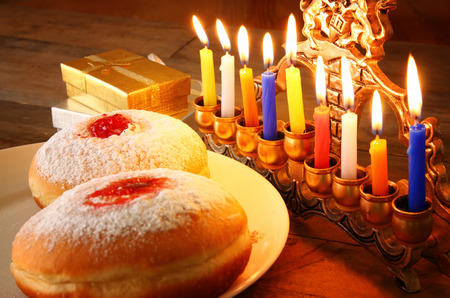 jewish background: image of jewish holiday Hanukkah