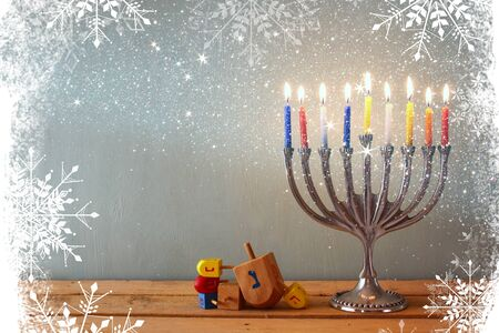 chanukiah: image of jewish holiday Hanukkah