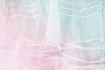 weeding: Vintage tulle chiffon texture background. wedding concept. vintage filtered and toned image Stock Photo