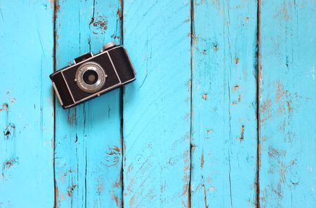 top view image of vintage old camera