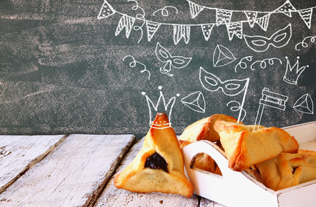 hamantash: Hamantaschen cookies or hamans ears Purim celebration jewish carnival holiday with set of infographics