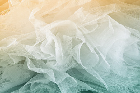 Vintage tulle chiffon texture background. wedding concept. vintage filtered and toned image Stock Photo