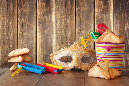 hamantash: Purim celebration concept jewish carnival holiday. selective focus Stock Photo