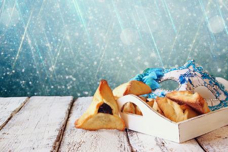 jewish: Purim celebration jewish carnival holiday and glitter background. selective focus