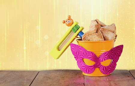 hamantashen: Purim celebration concept jewish carnival holiday. selective focus Stock Photo