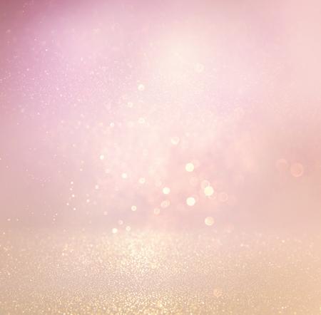 glitter vintage lights background. light silver, purple and pink. defocused. Foto de archivo