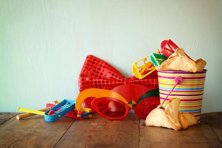 Purim celebration concept jewish carnival holiday. selective focus Stock Photo