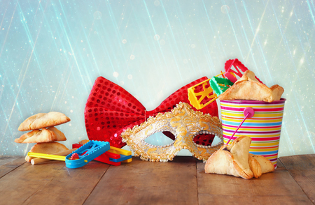 holiday maker: Purim celebration concept jewish carnival holiday. selective focus Stock Photo