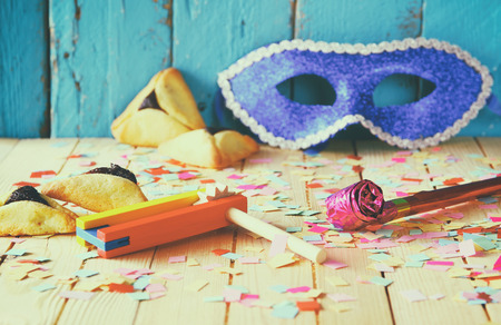 jewish background: Purim celebration concept jewish carnival holiday. selective focus Stock Photo