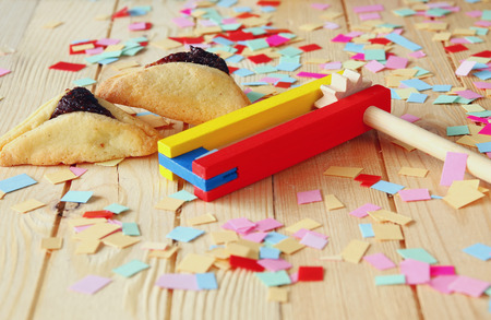 noisemaker: Purim celebration concept jewish carnival holiday. selective focus Stock Photo
