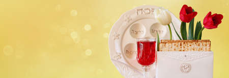 pesah: website banner background of Pesah celebration concept jewish Passover holiday Stock Photo