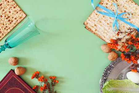 jewish: Pesah celebration concept jewish Passover holiday