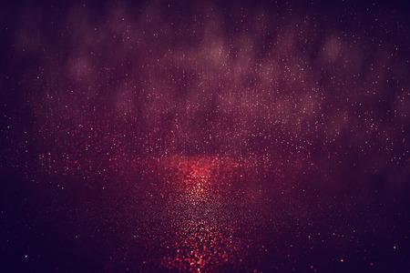 glitter vintage lights background. red, gold and black. defocused. Reklamní fotografie