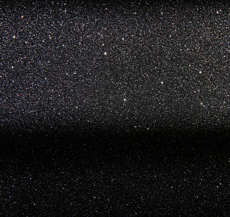 stary: glitter vintage lights background. silver and black. defocused. Stock Photo