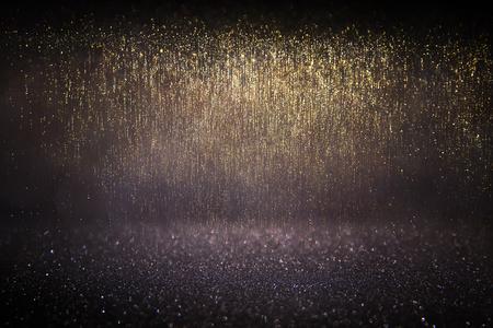 nakładki: Glitter vintage światła background.gold, niebieski i czarny. Defocused.