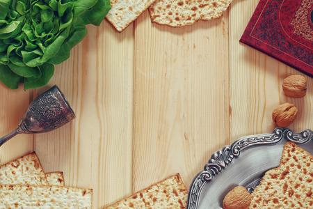 Pesah お祝い概念 (ユダヤ人の過越祭の休日) 写真素材