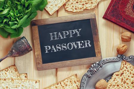 Het concept van Pesah viering (Joodse Pascha vakantie) Stockfoto