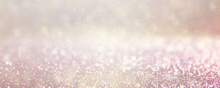 gold silver: defocused silver and pink lights background photo