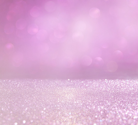 diamond background: glitter vintage lights background. pink and silver. defocused