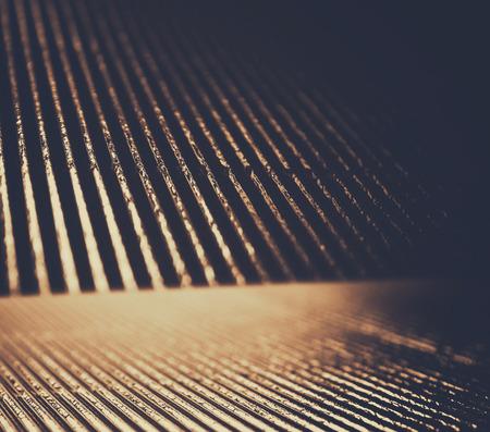 metallic background: metallic glitter vintage lights background. gold and black. defocused. Stock Photo
