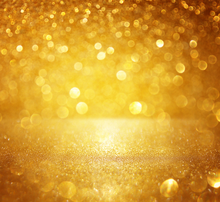 glitter vintage lights background. gold, silver. defocused