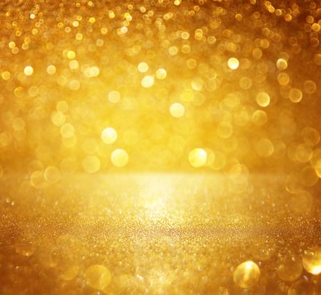 glitter vintage lights background. gold, silver. defocused