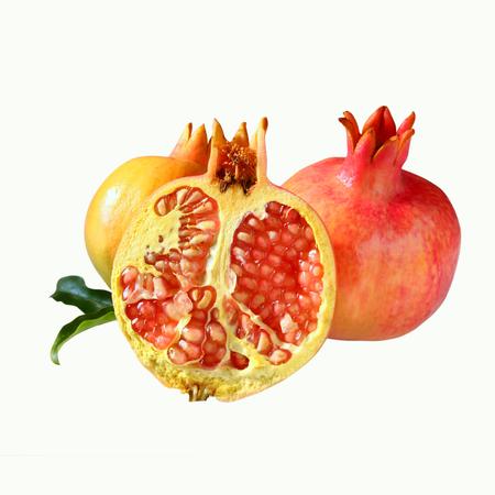 Pomegranates Over Wooden Table Rosh Hashanah Jewish New Year