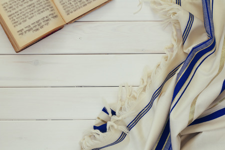 kippur: Prayer Shawl - Tallit, jewish religious symbol