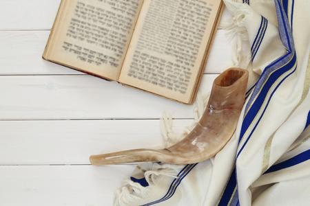 Modlitwy Szal - Tallit, żydowski symbol religijny.