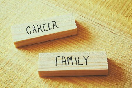 conflict theory: Family and Career conflict concept. Retro filtered