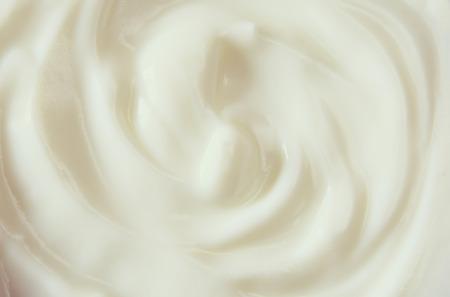 요구르트 소용돌이의 상위 뷰 이미지입니다.