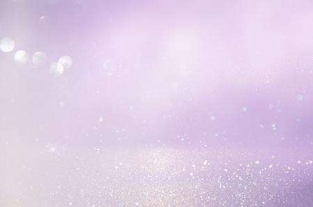 ピンク、紫と銀の抽象的なボケが点灯します。多重の背景