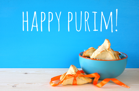 hamantash: Purim celebration concept (jewish carnival holiday). Traditional cookies