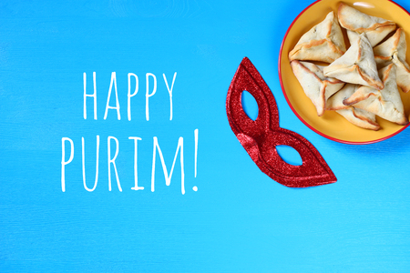 hamantash: Purim celebration concept (jewish carnival holiday). top view