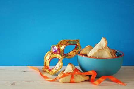 megillah: Purim celebration concept (jewish carnival holiday). Stock Photo
