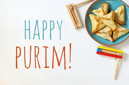 hamantaschen: Purim celebration concept (jewish carnival holiday)