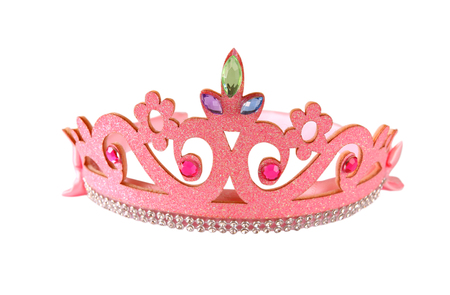 esther: Girls costume crown, isolated on white . Stock Photo