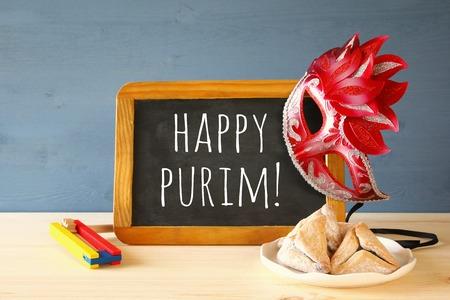 Purim celebration concept (jewish carnival holiday). Stock Photo