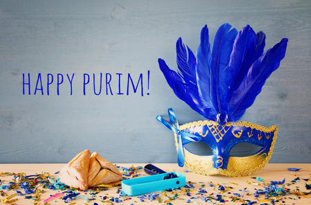 hamantash: Purim celebration concept (jewish carnival holiday). Stock Photo