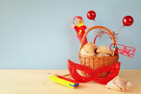 haman: Purim celebration concept (jewish carnival holiday). Stock Photo