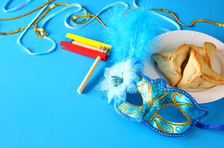 hamantaschen: Purim celebration concept (jewish carnival holiday). Stock Photo