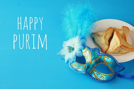 Purim celebration concept (jewish carnival holiday). Фото со стока
