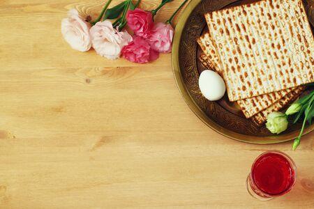matzoth: Pesah celebration concept (jewish Passover holiday). Stock Photo