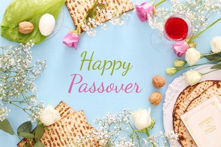 Pesah celebration concept (jewish Passover holiday). Standard-Bild