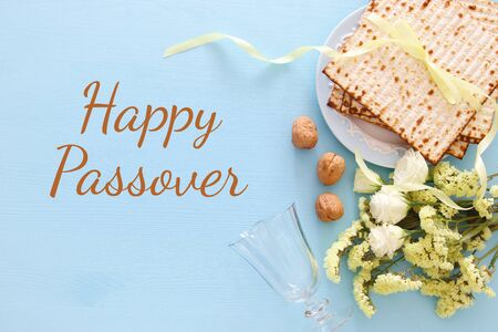 Pesah celebration concept (jewish Passover holiday). Stock Photo