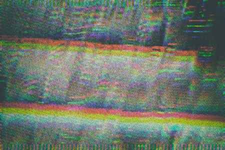 Test Screen Glitch Texture Banco de Imagens