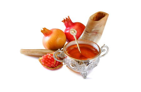 Rosh hashanah (jewish New Year holiday) concept. Traditional symbol 스톡 콘텐츠